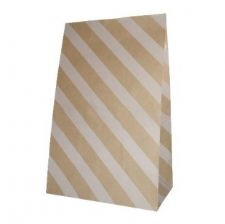 Oblique Stripes Party bitty bags Set of 12/ Πλάγιο ριγέ χαρτινα σακουλακια Σετ των 12
